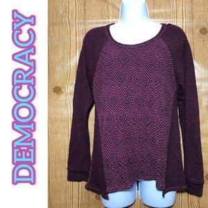 ▪️Democracy Medium Maroon Zigzag T-Shirt